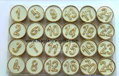 數字蠟燭。生日蠟燭