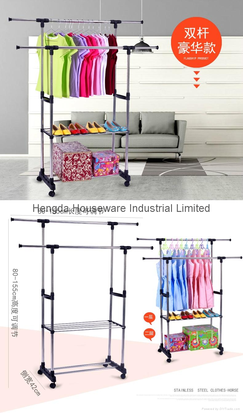 Folding Laundry Hanger Clothes Drying Rack Outdoor Clothes Airer 2