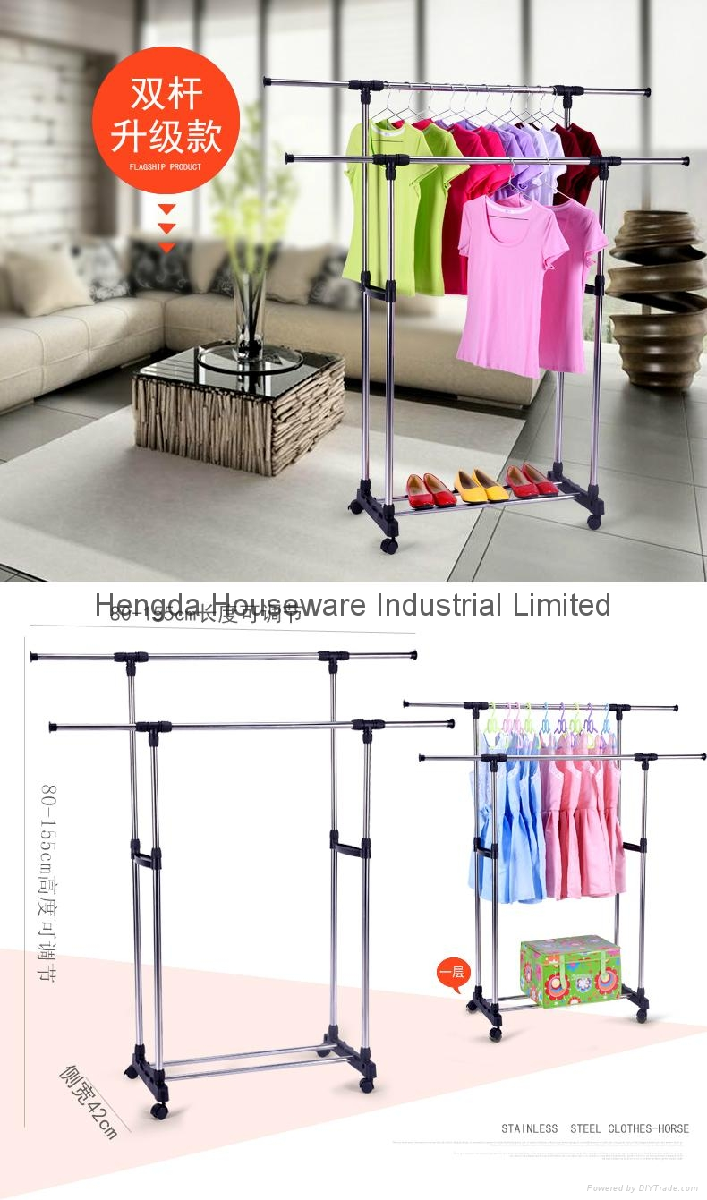 Folding Laundry Hanger Clothes Drying Rack Outdoor Clothes Airer 3