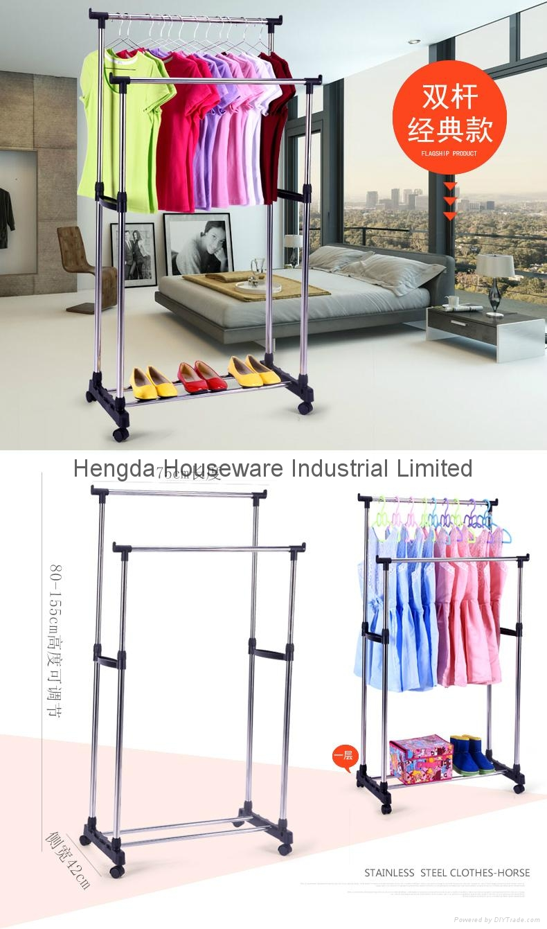 Folding Laundry Hanger Clothes Drying Rack Outdoor Clothes Airer 5