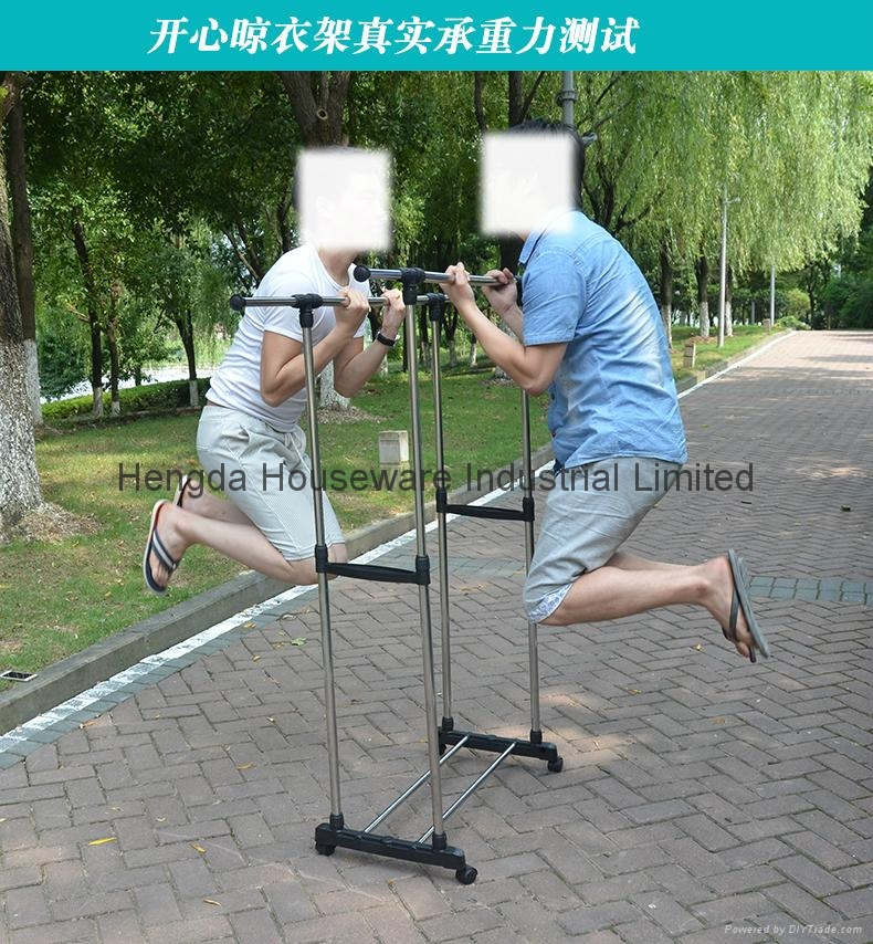 Folding Laundry Hanger Clothes Drying Rack Outdoor Clothes Airer 13