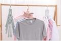 folding Swivel plastic clothes hanger for clothes 8 ranks set 2