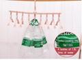 folding Swivel plastic clothes hanger for clothes 8 ranks set 4