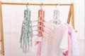 folding Swivel plastic clothes hanger for clothes 8 ranks set 7