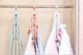 folding Swivel plastic clothes hanger for clothes 8 ranks set 8