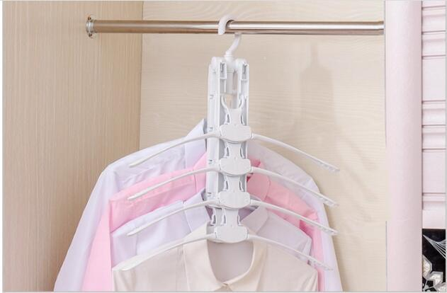 folding Swivel plastic clothes hanger for clothes 8 ranks set 9