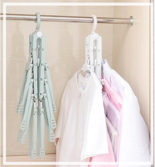 folding Swivel plastic clothes hanger for clothes 8 ranks set 10