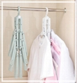 folding Swivel plastic clothes hanger for clothes 8 ranks set