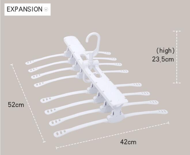 folding Swivel plastic clothes hanger for clothes 8 ranks set 11
