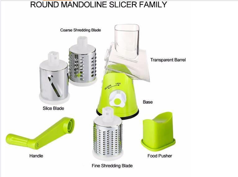 Hot Sale Round Mandoline Slicer Vegetable Cutter Chopper Potato Carrot Grater Sl 8