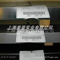 德国S+P钢铁组合式钢铁耐高温标签