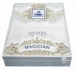 魔术师刺绣皮盒镀晶