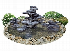 Artificial rockwork waterfall