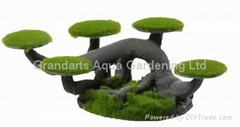 Imitation pine Resin aquarium ornament moss tree