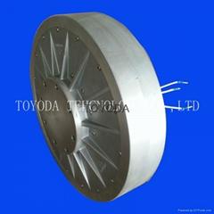 1kw垂直軸無鐵芯稀土永磁風力發電機