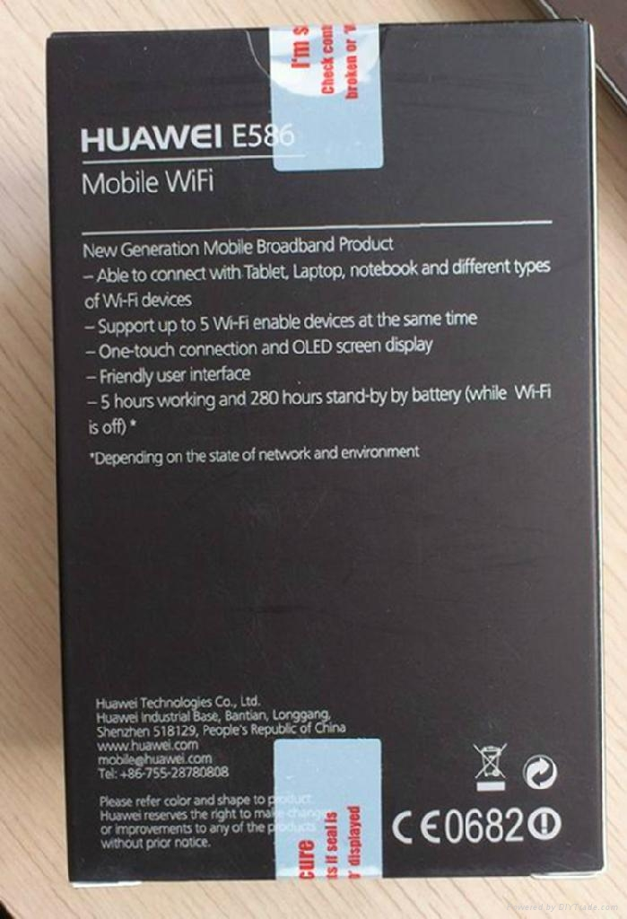 huawei wireless mifi router E586 with 21.6mbps 5
