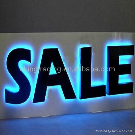 Backlit Acrylic Sign halo lit lighting letter sign 2