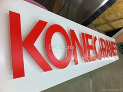 3mm acrylic letter with studs red plastic sign