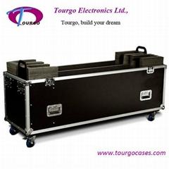 "TG Cases Twin 42"" Plasma Screen Flight case Custom built"