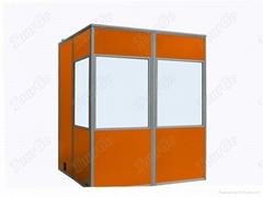 2-Person Simultaneous Interpretation Booths in Orange