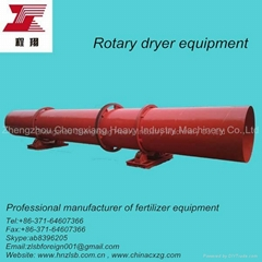 Rotary drum dryer of fertilizer equipment