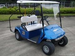 兩座高爾夫球車