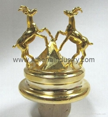 Two deers metal cork wine bottle stopper crafts