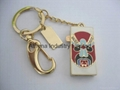 Enamel China opera mask metal USB driver jewelry