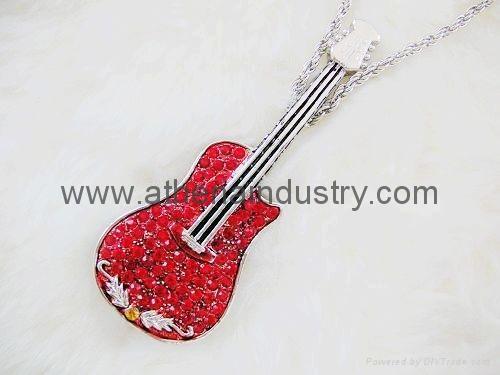 Fashion metal Violin USB driver jewelry 1