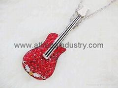 時尚金屬小提琴U盤飾品