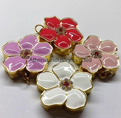 時尚紫荊花固體香水香膏盒吊墜