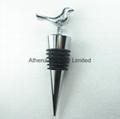 Bird animal decoration metal wine bottle stopper cap