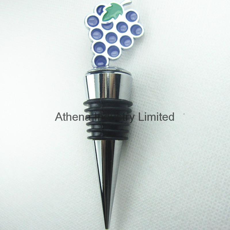 Enamel Grape fruit metal decoration wine bottle stopper cap 1