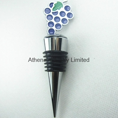 Enamel Grape fruit metal decoration wine bottle stopper cap