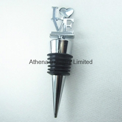 Fashion LOVE letters metal wine botle stopper cap