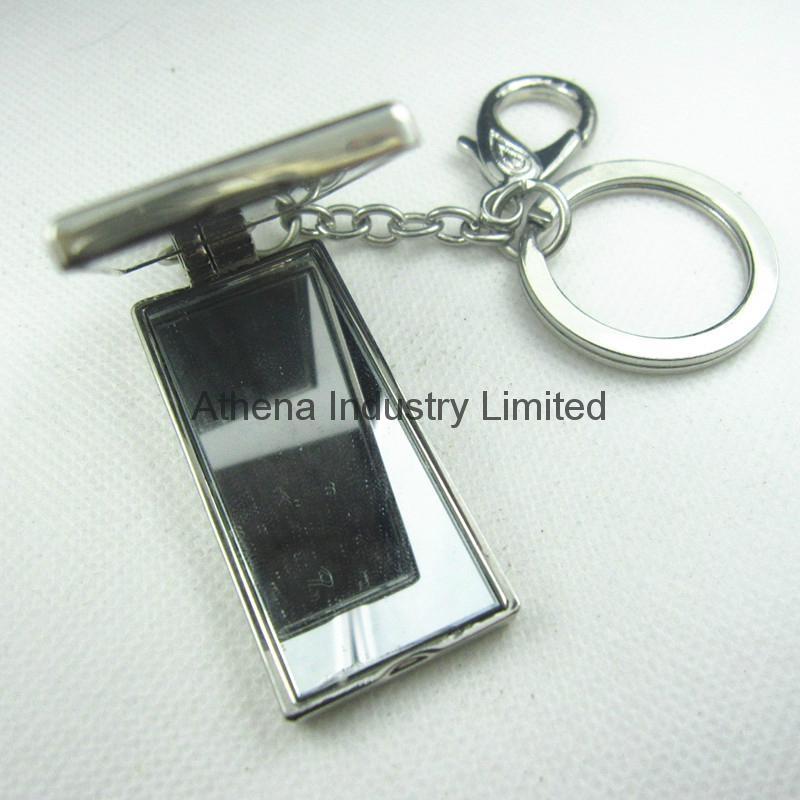 長方形鑲鑽金屬小相框鑰匙扣 2