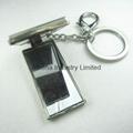 长方形镶钻金属小相框钥匙扣 2