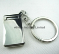 Rectangle small rotatable metal photo frame keyring