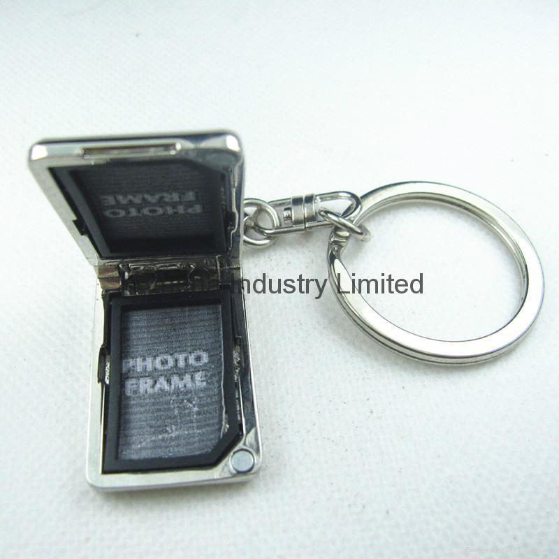 长方形金属小可旋转相框钥匙扣 2