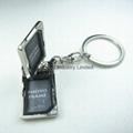 长方形金属小可旋转相框钥匙扣 3