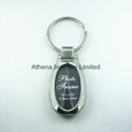 Oval small metal photo frame keyring