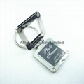 Square metal photo frame keyring