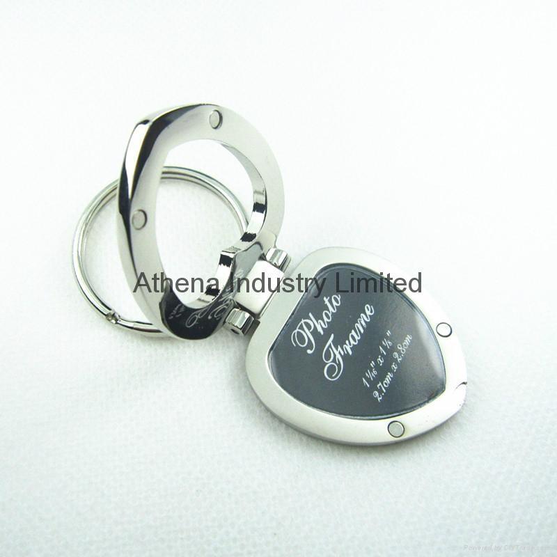 心形金属小相框钥匙扣 1