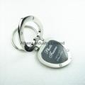心形金屬小相框鑰匙扣