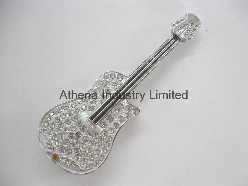 Fashion metal Violin USB driver jewelry 2