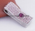 Fashion crystals metal USB driver jewelry