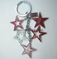 Costumized LOGO metal star keyring