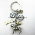 Fashion dog metal gift key ring