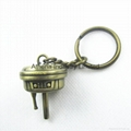 Metal 3D  miniature key ring