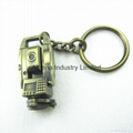 Fashion metal  miniature key ring